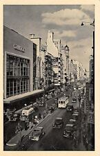 Buenos Aires Argentina~Corrientes Avenue~Nelson~Shops~Rex Theater~1940s Cars B&W