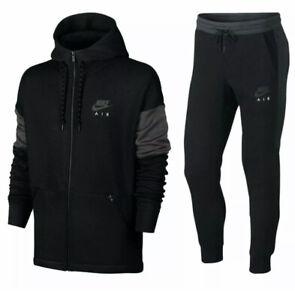 Nike Air Mens Tracksuit Fleece Hoodie Joggers Black Navy RRP £150 S M L XL