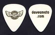 REO Speedwagon Dave Amato Signature White Guitar Pick - 2017 Tour