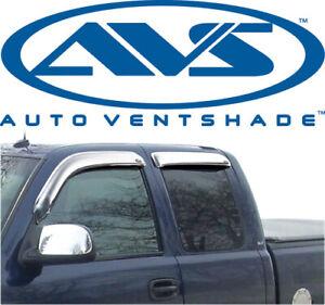 AVS 684044 Chrome Ventvisor 4Pc 2001-2007 GMC Sierra Chevy Silverado Extended