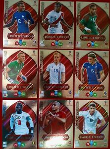 Cards Adrenalyn World Cup 2018 Limited Edition Mbappe Messi Ronaldo Neymar