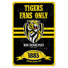 Official AFL Richmond Tigers Obey The Rules Retro Metal Sign Decoration