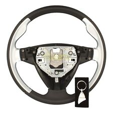 SAAB 93 9-3 9440 06-12 LEATHER CHROME AERO STEERING WHEEL 12783362 RARE SUFFOLK