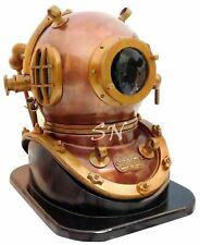 """18"""" Vintage Copper Antique Scuba Divers Diving Helmet Morse Diving Helmet Decor"""