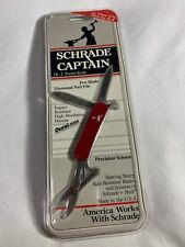 Schrade USA Captain DL-2 DL2 Pocket Knife Clamshell Vintage NOS Pen Blade Red