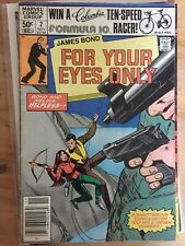 MARVEL COMICS JAMES BOND FOR YOUR EYES ONLY #2 1981 007 Bronze Age