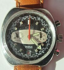 Vintage Gents 1970s Rogau Val 7734 Chrono Tachy Date Watch Serviced Warranty