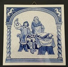 Delft Holland Handmade Tile Pharmacy Doctrine of the Four Humours July 1987