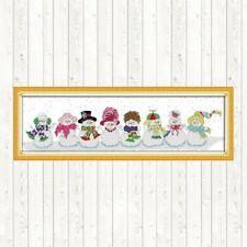 JOY SUNDAY BNIP NATTY SNOWMEN cross Stitch Kit 14ct Size 80 x 27 cm