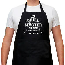 Funny BBQ Apron For Men - The Grill Master, The Man The Myth The Legend