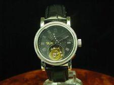 Novum Tourbillon Handaufzug Edelstahl Herrenuhr Armbanduhr