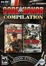 CODE OF HONOR 1 & 2 COMPILATION Original & Conspiracy Island Shooter PC Game NEW