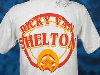 vintage 80s RICKY VAN SHELTON AUTOGRAPHED CONCERT JERSEY T-Shirt SMALL country