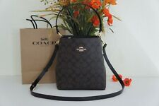 NWT Coach 2312 Signature Leather Small Town Bucket Crossboday Bag Brown Black
