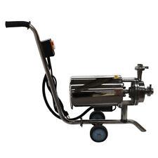 110v Portable Centrifugal Pump Sanitary Beverage Pump 3th 304 Food Grade
