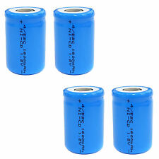 4 pcs 4/5 Sub C SC 1600mAh 1.2V Ni-Cd rechargeable Battery Cell Flat Top Blue