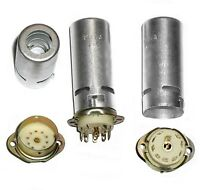 8pcs 9-pin Ceramic Tube Socket Shield 70 mm USSR for E182CC 12AX7 ECL82 6N30P-DR