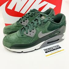 NIKE AIR MAX 90 MENS TRAINERS GREEN SUEDE CARGO KHAKI UK 8.5 US 9.5 SIZE 43