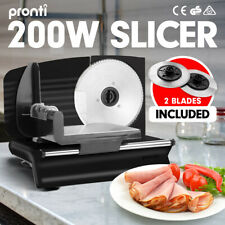200w Pronti Deli and Food Electric Meat Slicer Blades Processor Black