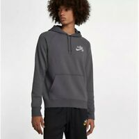 Nike SB Icon Logo Top Mens Hoodie Grey Size M Casual Pullover Sweatshirt