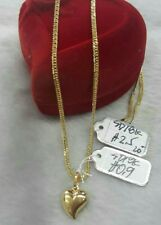 GoldNMore: 18K Gold Necklace and Pendant 20 inches chain