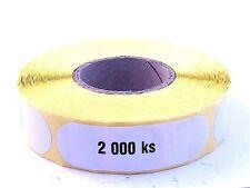 Rouleau de pastilles / gommettes adhésives autocollantes Ø 20 mm - 2000 - BLANC