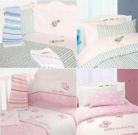 Nursery Baby Boys & Girls Bedding Quilt Cover Set Bumper Quilt 100% Cotton