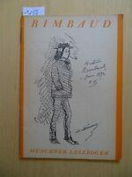 Münchner Lesebogen Nr. 97 - Erinnerungen an Arthur Rimbaud - von Paul Verlaine