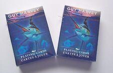 2 DECKS GUY HARVEY Playing Cards Ocean Underwater Artwork Fish New