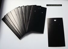 100 Black cardboard earring display cards pierced earrings peg hook hole Jd037B