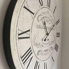 Reloj De Pared Reloj de Pared de Madera Vintage Francés Paris ronda Reloj 60cm De Estación De Gran Tamaño
