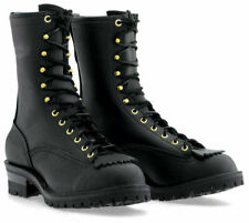 "Wesco Men's Firestormer 10"" Black Fire & Water Resistant Lace-to-Toe Boots"