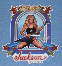 Jenna Jameson PORN STAR Loves Jackson Guitar T-SHIRT BLUE FEMALE XL EXTRA LARGE