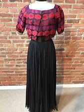 Vintage 1930's Evening Gown Brocade Crop Jacket Full Skirt Satin Chiffon XS