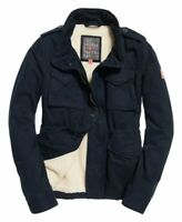 Superdry Womens Rookie Military Jacket Winter Jacket M Blue BNWT