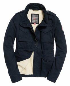Superdry Womens Rookie Military Jacket Winter Jacket M Blue BNWT