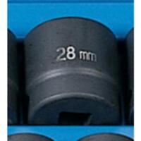 "Grey Pneumatic 2028M 1/2"" Drive Standard Metric Impact Socket - 28mm"