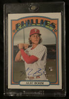 2021 Topps Heritage ALEC BOHM Real One Autograph Rookie Auto PHILLIES RC #ROA-AB