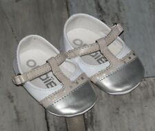 ~ 0/3 mois - OBAIBI - LAA04 ~ Superbes Ballerines blanches et argentées fille