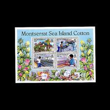 Montserrat, Sc # 572a, MNH, 1985, S/S, Cotton Industry, Flora, AR6SID-9