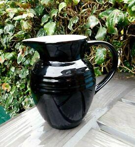 "Designer 6"" LE CREUSET Black Ceramic Water/Milk Jug 0.7L"