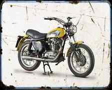 DUCATI 450 SCRAMBLER 73 1 A4 Imprimé Photo moto Vintage Aged