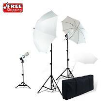 LimoStudio Photography Studio Video Portrait Umbrella Triple Bulb Lighting Kit
