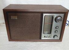 SONY Fidelity Sound 7 Transistor AM/FM Table Radio Model ICF-9650W  Vintage Rare