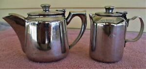 Commonwealth Railways Tea Pot & Milk Jug - Branded CR, As used on old Ghan, 1966