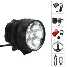 14000Lm 7x CREE XML T6 LED Front Bicycle bike Lamp Headlamp +Rear light+6400mAh