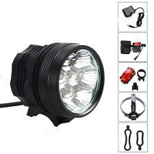 7X CREE T6 LED 14000Lm Front Bicycle light Bike Lamp Headlamp + 12000mAh Battery