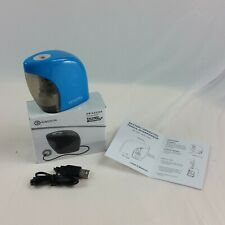 RingSun Portable Auto Pencil Sharpener Blue USB Car Travel Battery