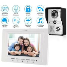 "7"" Wired Video Remote Unlock Doorbell Door Phone Intercom Monitor IR Camera B3W0"