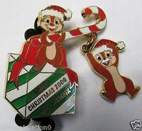 Disney Cast Member Merry Christmas Chip 'n' Dale Pin